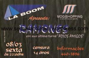 1996-03-08 – La Boom (Mogi das Cruzes, Brazil)
