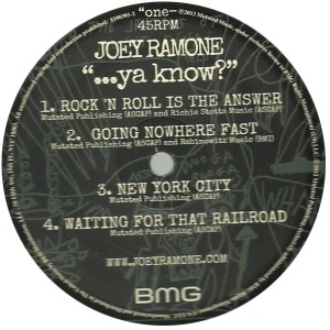 joey ramone - ...ya know label a