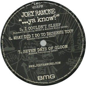 joey ramone - ...ya know label b