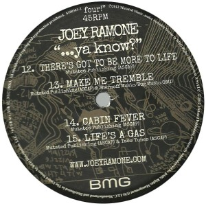 joey ramone - ...ya know label d