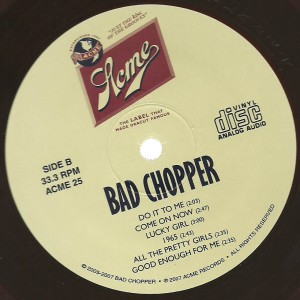 Bad Chopper - 2007 Bad Chopper label b