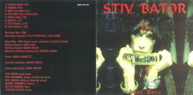 Dee Dee Ramone and Stiv Bators - 1990 - Last Race (2)
