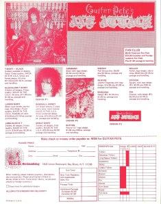 CJ Ramone (Guitar Pete's Axe Attack) - 1986 - Nitemare insert