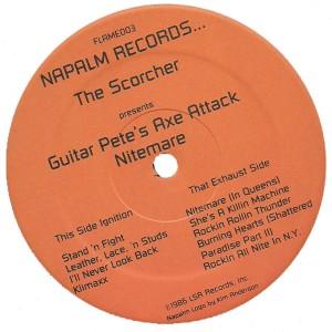 CJ Ramone (Guitar Pete's Axe Attack) - 1986 - Nitemare label a