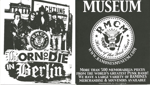 ramones museum postcard 1