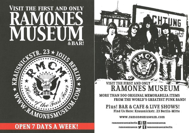ramones museum postcard 2