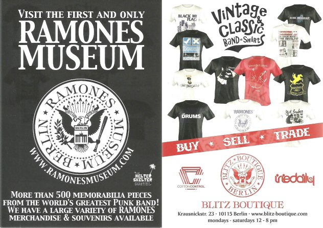 ramones museum postcard 3