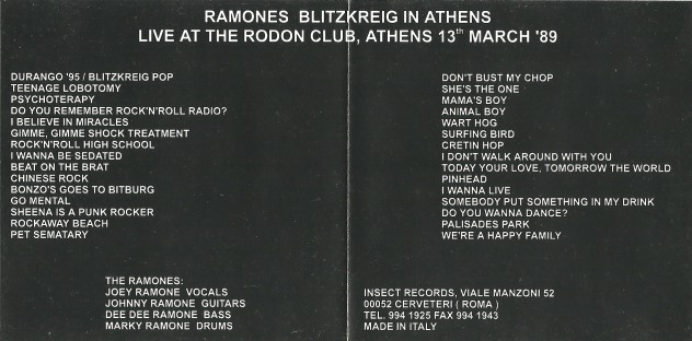 ramones - blitzkrieg athens 2