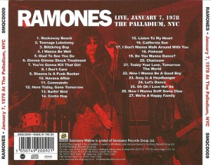 ramones-live, january 7, 1978 the palladium, nyc 5