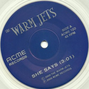 CJ Ramones (The Warm Jets) - 2000 - She Says-Diabla label A2