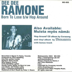 Dee Dee Ramone - 2002 - Born to Lose 2